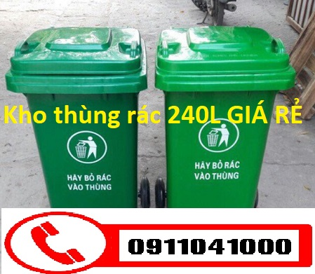 Chuyên bán thùng rác công cộng 120lit 240lit 660lit