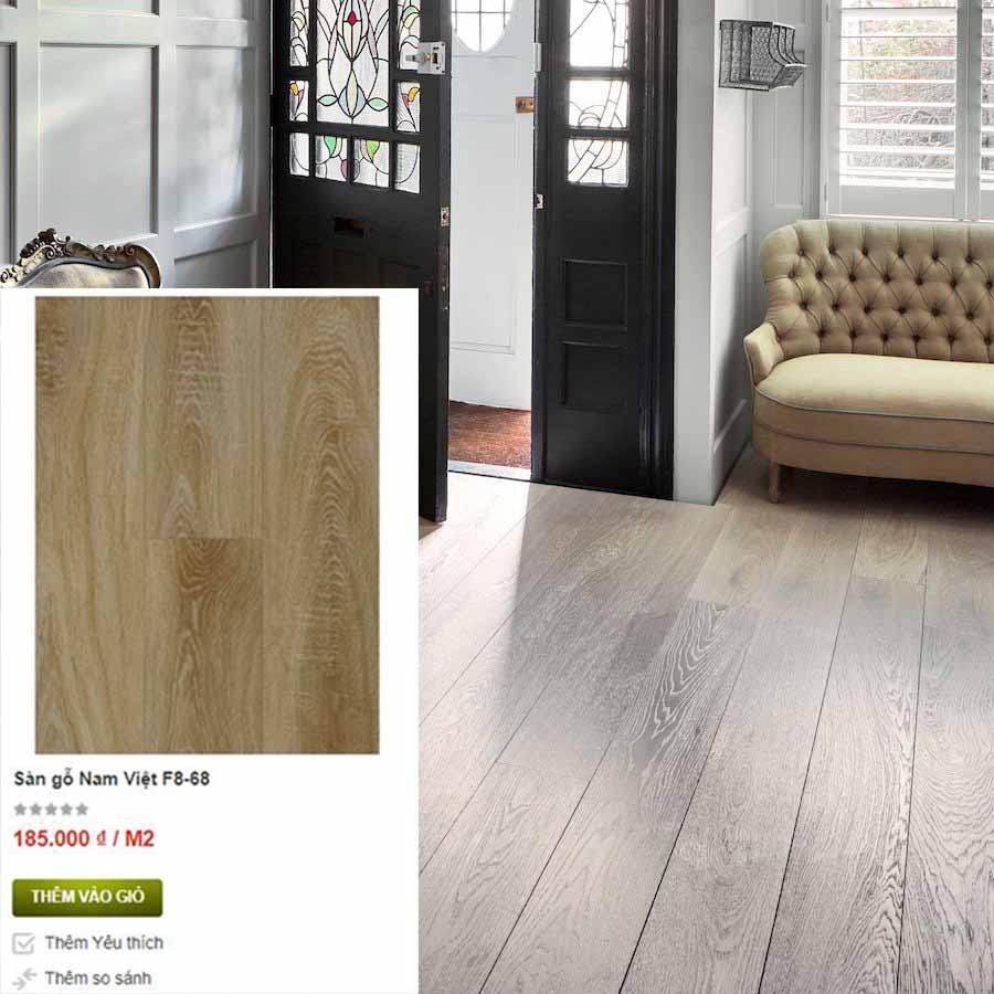 Sàn gỗ F8 68 có giá tốt trong tháng này