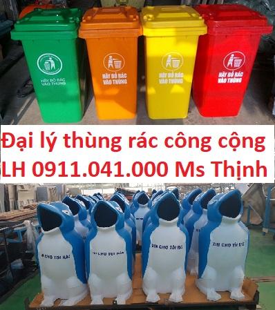 Công ty chuyên sỉ lẻ thùng rác công cộng lh 0911.041.000
